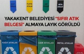 """YAKAKENT BELEDİYESİ """"SIFIR ATIK BELGESİ"""" ALMAYA..."""