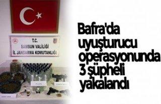 Bafra'da uyuşturucu operasyonunda 3 şüpheli...