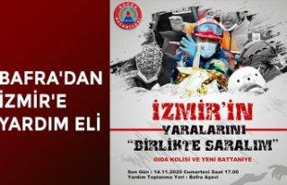 BAFRA'DAN İZMİR'E YARDIM ELİ