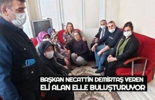 BAŞKAN NECATTİN DEMİRTAŞ VEREN ELİ ALAN ELLE...