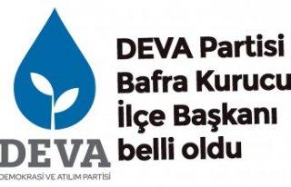 DEVA Partisi Bafra Kurucu İlçe Başkanı belli oldu