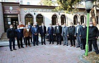 Tokat Belediye Başkanı Eroğlu esnaf temsilcileriyle...