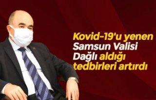 Kovid-19'u yenen Samsun Valisi Dağlı aldığı...
