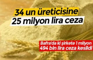 34 un üreticisine 25 milyon lira ceza