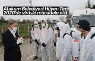 Atakum Belediyesi Hijyen Timi 2020'de virüsle mücadele...