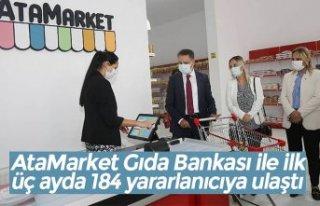 AtaMarket Gıda Bankası ile ilk üç ayda 184 yararlanıcıya...