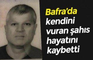 Bafra'da kendini vuran şahıs hayatını kaybetti