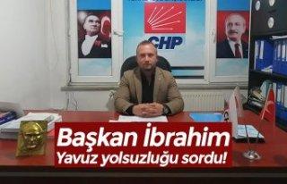 Başkan İbrahim Yavuz yolsuzluğu sordu!