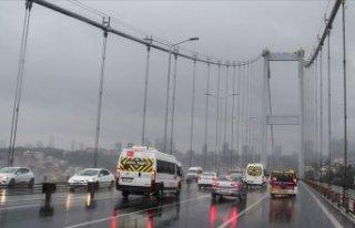 İstanbul'da yağışlı hava etkili oluyor