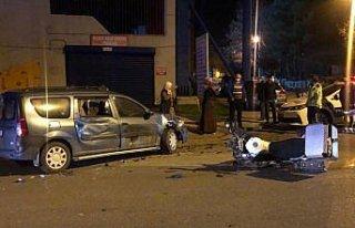 Karabük'te otomobil ile motosiklet çarpıştı:...