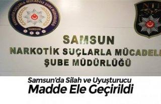 Samsun'da Silah ve Uyuşturucu Madde Ele Geçirildi
