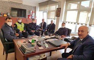Samsun'da jandarmadan Ziraat Odasına ziyaret