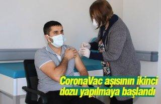 CoronaVac aşısının ikinci dozu yapılmaya başlandı