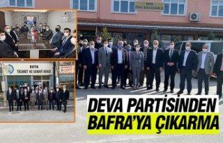 DEVA PARTİSİNDEN, BAFRA'YA ÇIKARMA