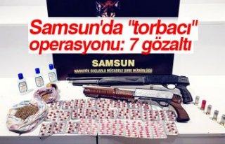 """Samsun'da """"torbacı"""" operasyonu: 7..."""
