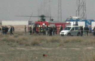 Konya'da askeri uçak kaza kırıma uğradı;...