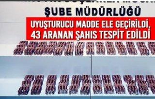 Samsun'da Uyuşturucu Madde Ele Geçirildi, 43 Aranan...