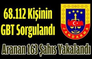68.112 Kişinin GBT Sorgulandı, Aranan 163 Şahıs...