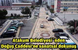 Atakum Belediyesi'nden Doğuş Caddesi'ne sanatsal...