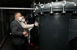 Başkan Güler, gölet ve su arıtma tesisinde incelemelerde...