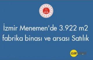 İzmir Menemen'de 3.922 m² fabrika binası ve...