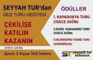 Seyyah Tur'dan  Gezi Turu Hediyesi