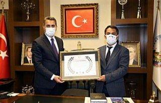 Tokat Belediye Başkanı Eroğlu'na çevreye duyarlı...