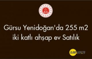 Gürsu Yenidoğan'da 255 m2 iki katlı ahşap...