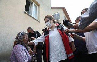 Aile ve Sosyal Hizmetler Bakanı Yanık, sel felaketi...