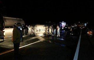 Bolu'da takla atan cipin sürücüsü yaralandı