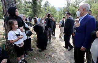 Bozkurt'taki sel felaketinde hayatını kaybeden Kalabalık...