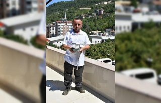 Bozkurt'taki sel felaketini görüntüleyen gazeteci...