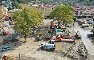 Bozkurt'taki sel felaketinin 20'nci gününde çalışmalar...