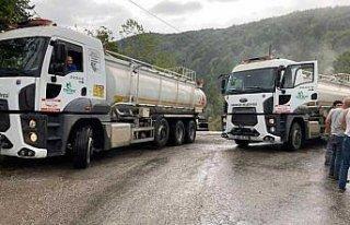 Karabük Belediyesinden sel felaketinin yaşandığı...