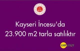 Kayseri İncesu'da 23.900 m² tarla satılıktır