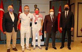 Olimpiyat şampiyonu Busenaz Sürmeneli'den Trabzon...