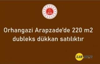 Orhangazi Arapzade'de 220 m2 dubleks dükkan...