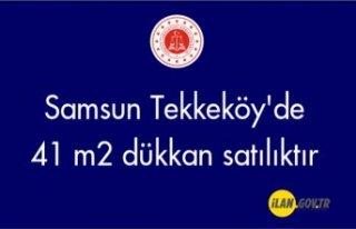 Samsun Tekkeköy'de 41 m2 dükkan icradan satılıktır