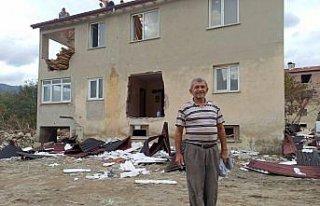 Sel felaketini yaşayan Babaçay köyü sakinlerinden...