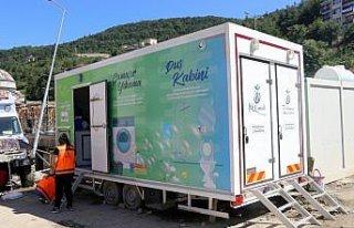 Sel felaketinin yaşandığı Bozkurt'ta mobil hijyen...