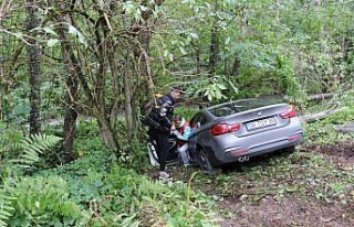 Boluspor'lu futbolcuların içinde bulunduğu otomobil...