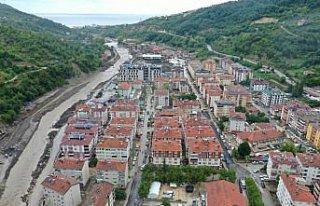 Bozkurt'taki sel felaketinin 23'üncü gününde çalışmalar...