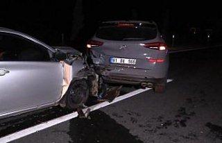 Düzce'de aynı yerde meydana gelen 2 farklı kazada...