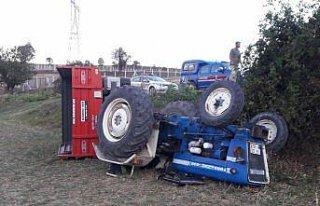 Havza'da devrilen traktörün altında kalan sürücüsü...