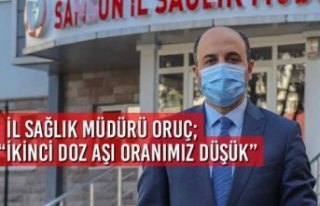 """İl Sağlık Müdürü Oruç; """"İkinci Doz Aşı..."""