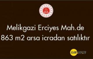 Melikgazi Erciyes Mah.de 863 m² arsa icradan satılıktır