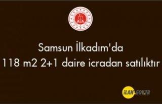 Samsun İlkadım'da 118 m² 2+1 daire icradan...