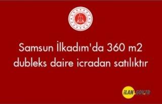 Samsun İlkadım'da 360 m2 dubleks daire icradan...