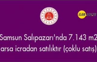 Samsun Salıpazarı'nda 7.143 m² arsa icradan...