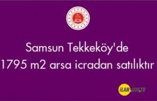 Samsun Tekkeköy'de 1795 m2 arsa icradan satılıktır